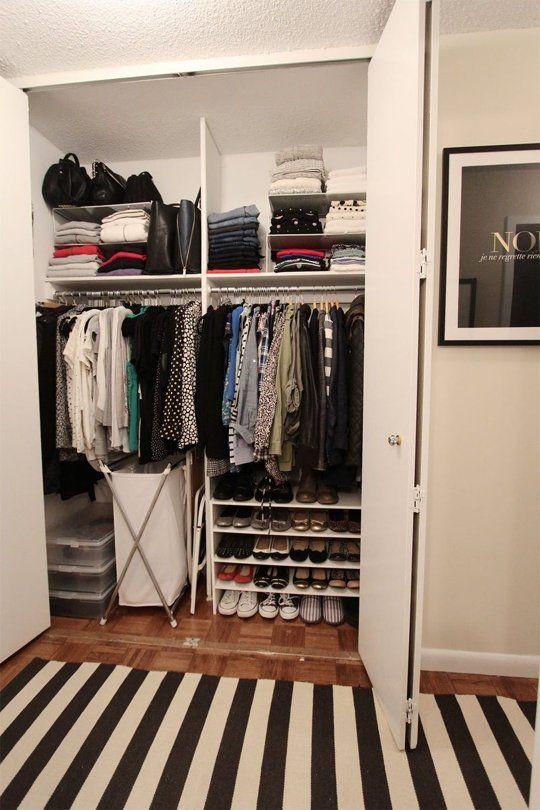 20 Smart Ways To Organize Your Bedroom Closet Closet Apartment