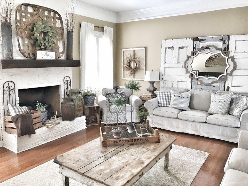 Living Room Modern farmhouse living room decor, Living
