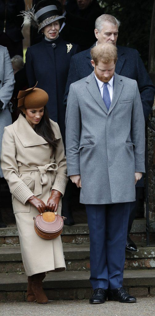 The Royal Family Heads to Church on Christmas Day, but All Eyes Are on Meghan #celebrityphotos