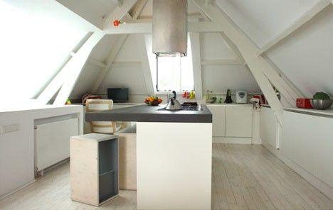 Schön schräg Wohnräume im Dachgeschoss Dachschräge einrichten - modernes einrichten dachgeschoss