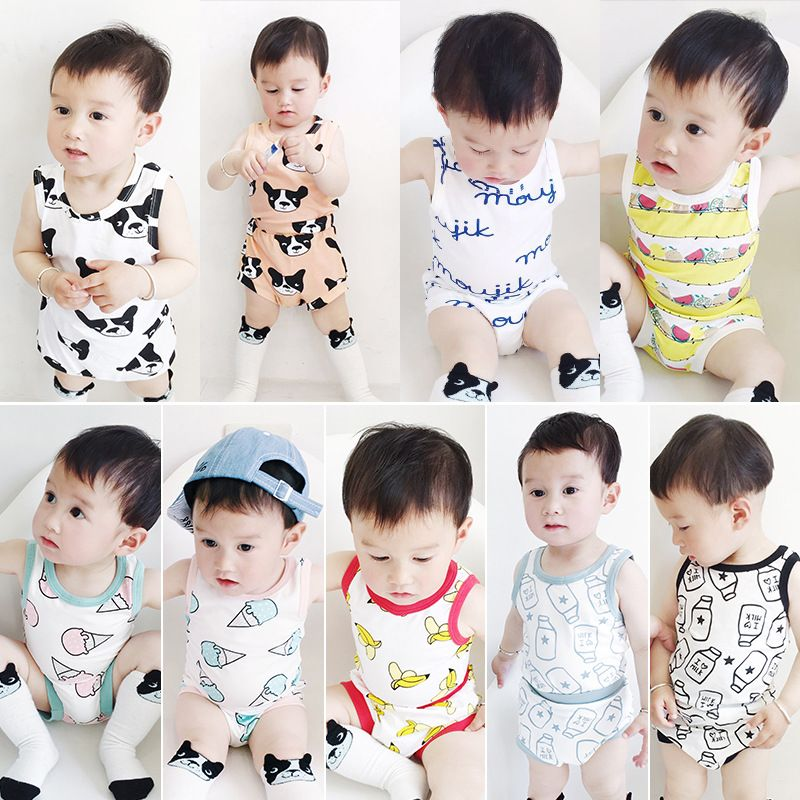97c5b77a6 Click to Buy    Toddler Baby Boys Girls Clothing Sets 2017 Summer ...