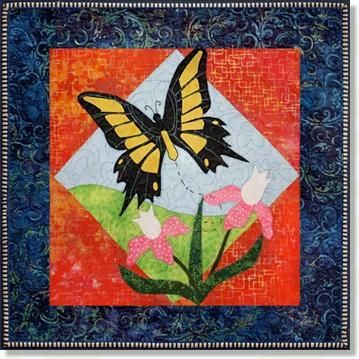 Yellow Swallowtail Butterfly Applique Quilt Patterns By Debra