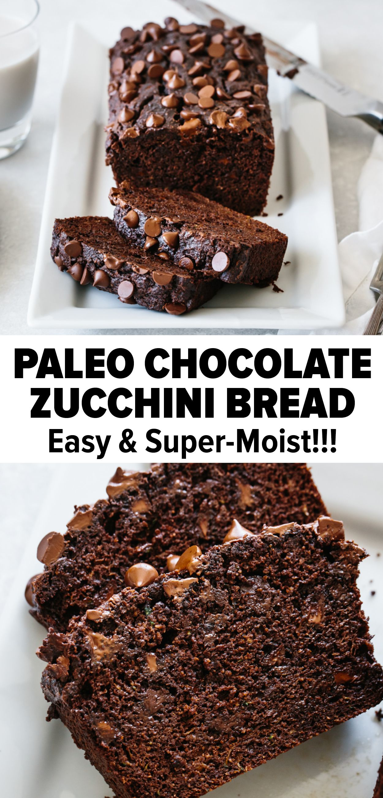 Paleo Chocolate Zucchini Bread (So Moist!) | Downshiftolggy