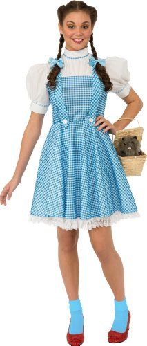 Rubie's Adult Dorothy Wizard of Oz Costume Dress and Hair Bows