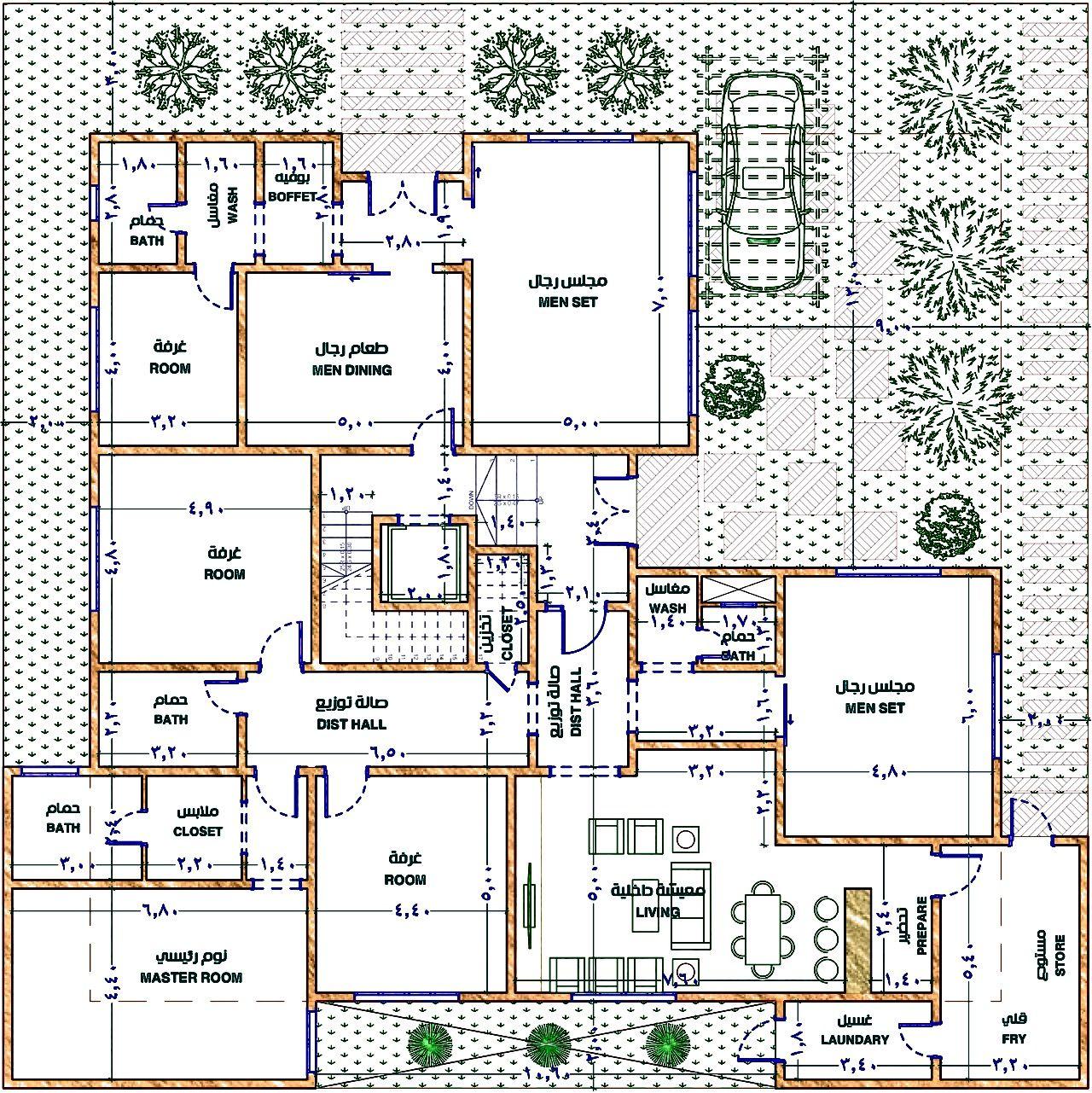 تصميم فيلا مودرن من إيجي ريفت الارضي New House Plans House Layout Plans House Layouts