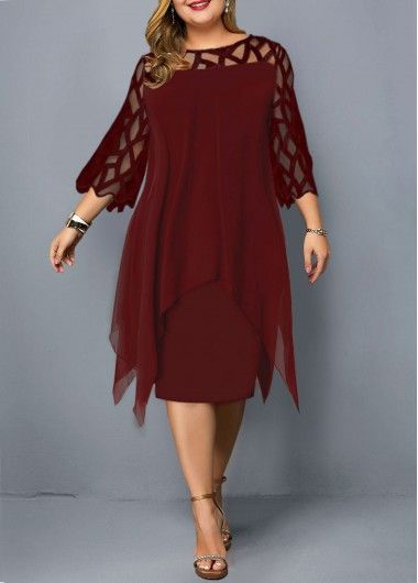 Photo of Chiffon Cardigan and Sequin Embellished Plus Size Dress | Rotita.com – USD $37.9…
