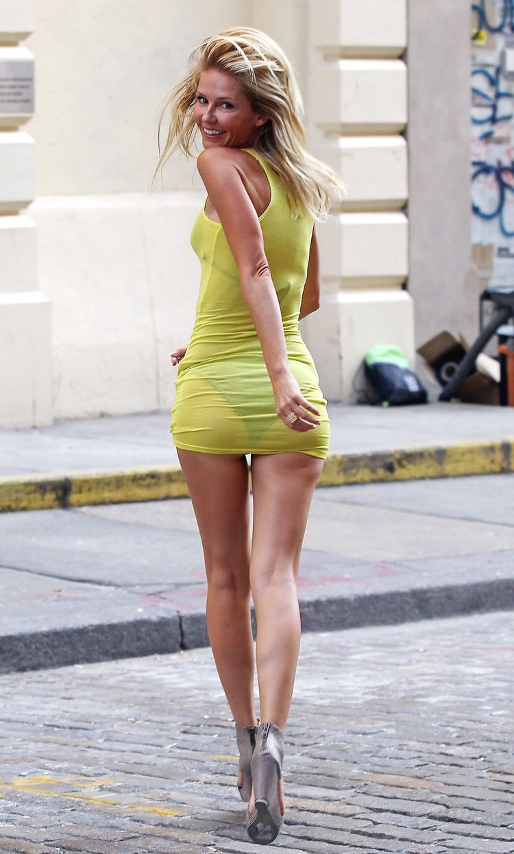 Sexy Blonde Striped Skirt