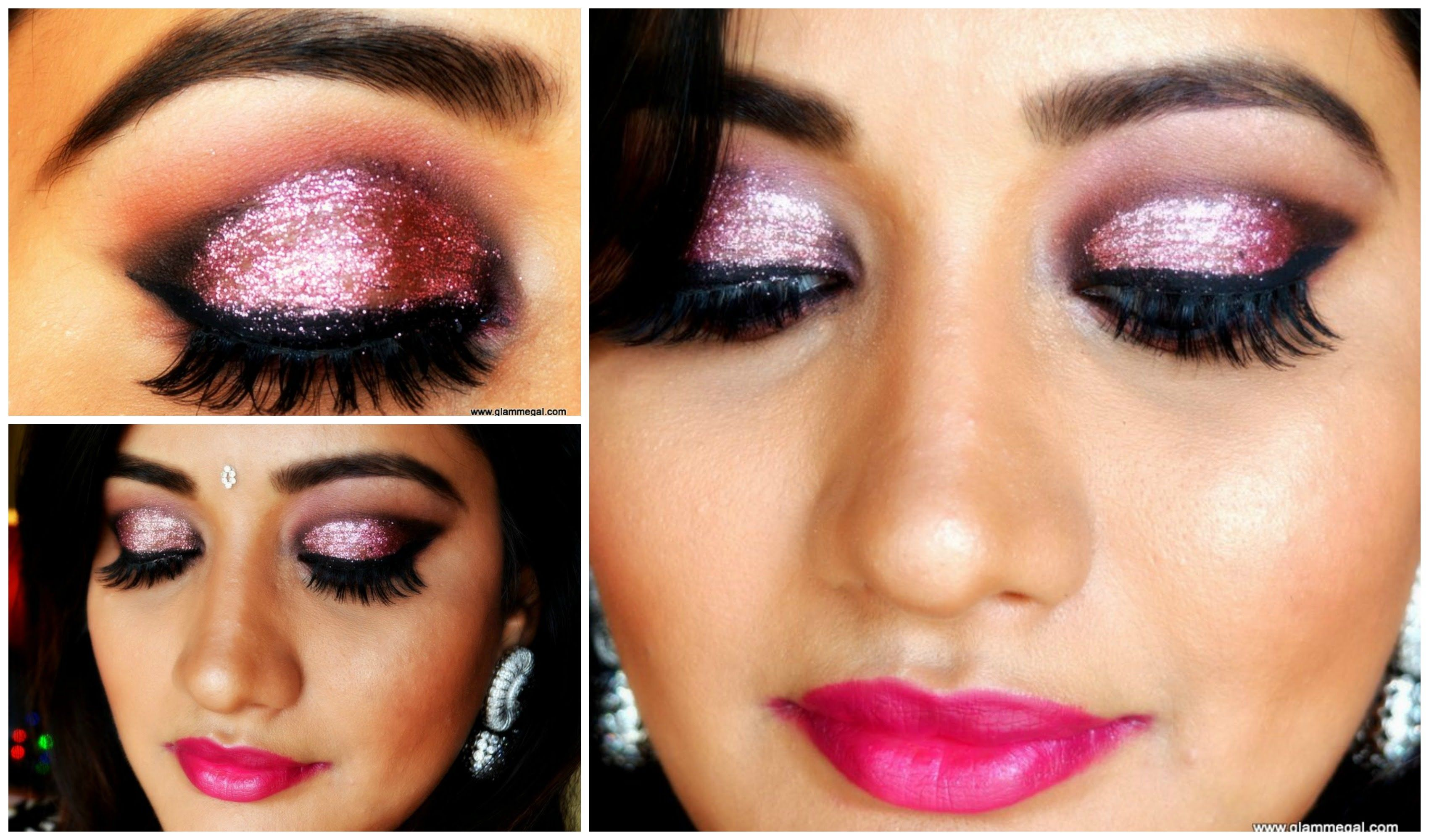 Glitter Diwali Makeup for Indian/ Tan/ Brown/ Olive skin