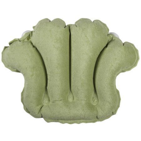 Living Healthy Products 31012CS Terry Bath Pillow In Celery, Green
