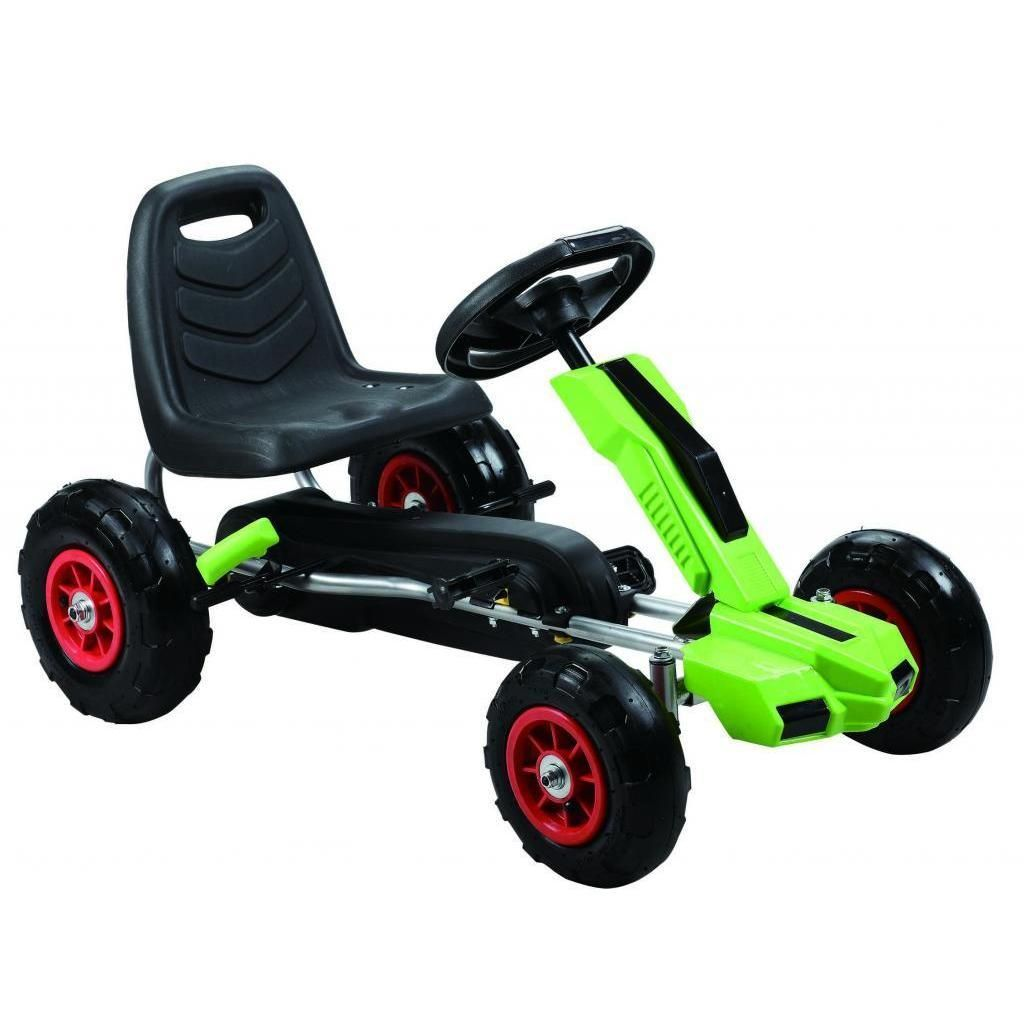 Merske Power Pedal Go-Kart with Pneumatic Tires (Yellow)