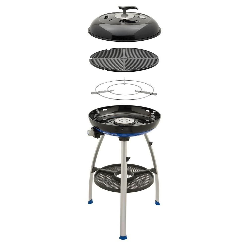Cadac Carri Chef 2 Propane Gas Grill With Pot Ring And Grill Plate Black Blue Grey Propane Gas Grill Grilling Outdoor Grill