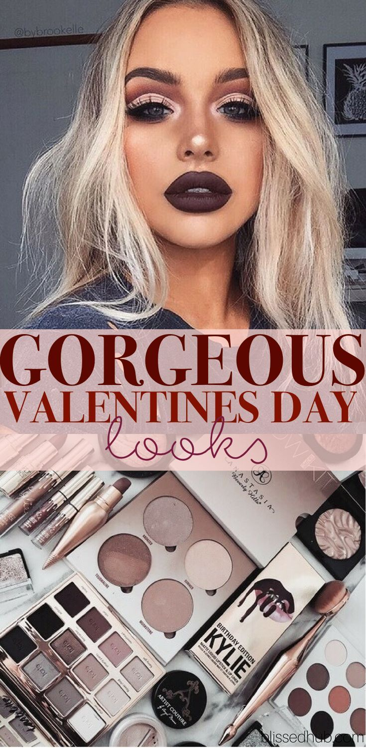 TOP  Valentines Day Looks To Die For  Dark lips Lips and Makeup