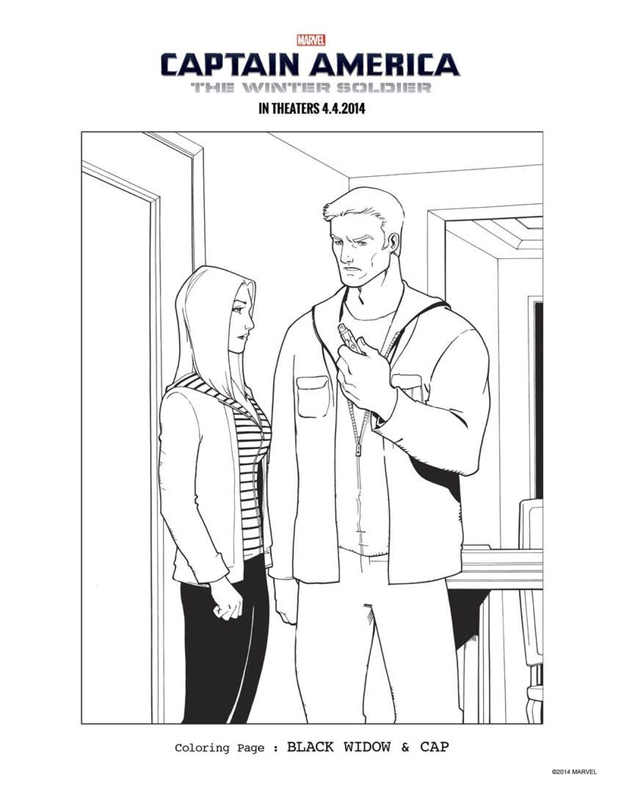 15 CAPTAIN AMERICA THE WINTER SOLDIER coloring sheets to keep