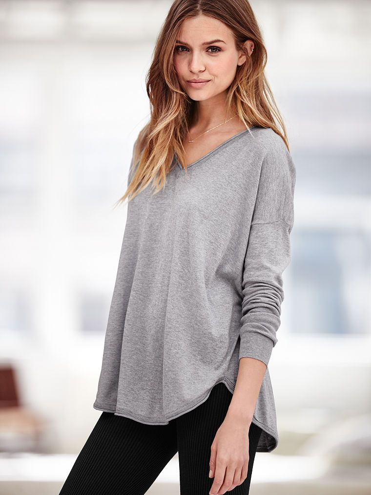 V-neck Tunic Sweater - A Kiss of Cashmere - Victoria's Secret ...