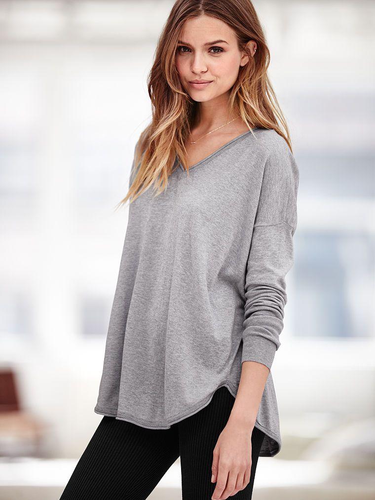 V-neck Tunic Sweater - A Kiss of Cashmere - Victoria's Secret ...