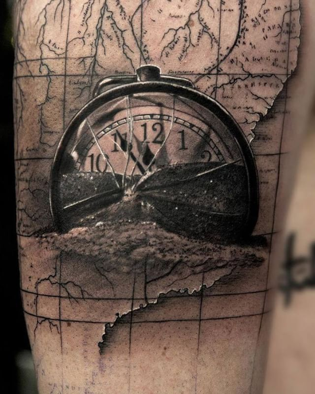 Time Is Running Out Broken Pocketwatch Piece Created By Artist