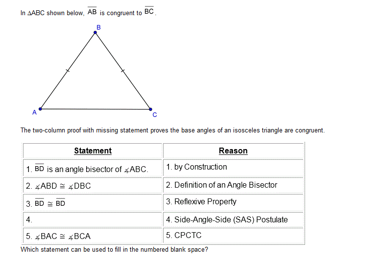In Abc Shown Below Is Congruent To The T Openstudy Abc Isosceles Triangle Definitions