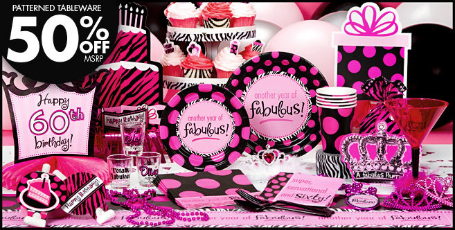 Another Year Of Fabulous 60th Birthday Party Supplies Decorations Favors