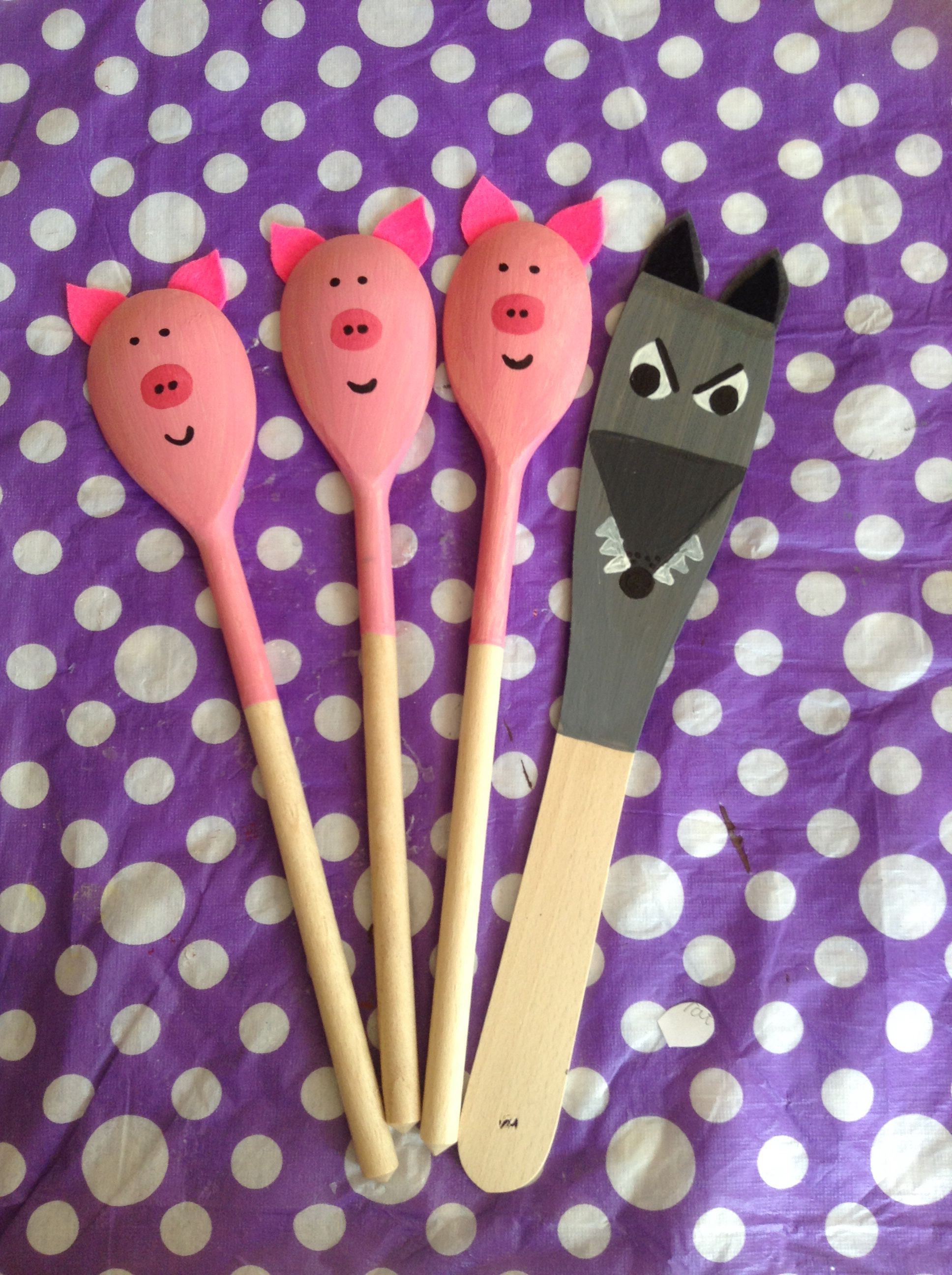 Story Spoons The Three Little Pigs
