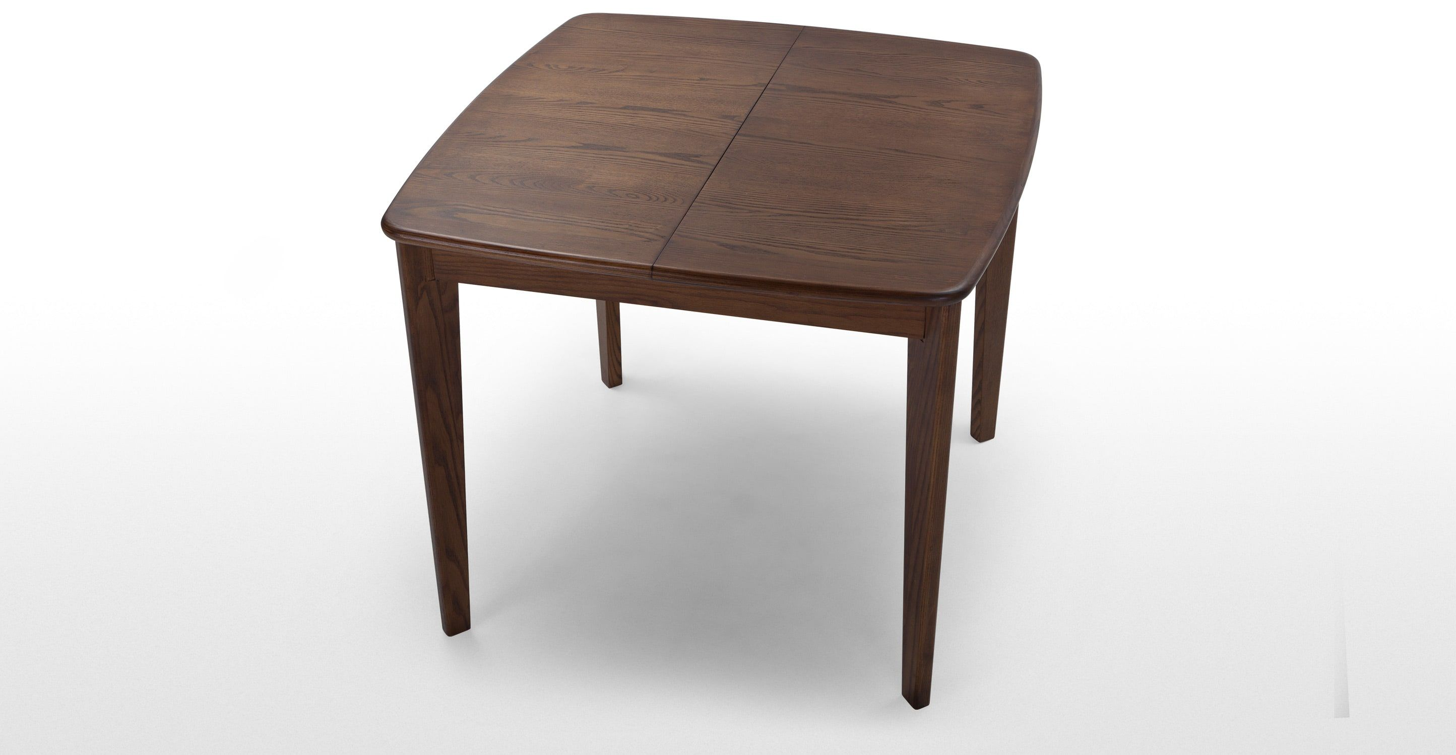 Monty 2 4 Seat Extending Dining Table Dark Stain Ash Small Square Dining Table Extendable Dining Table Square Dining Tables