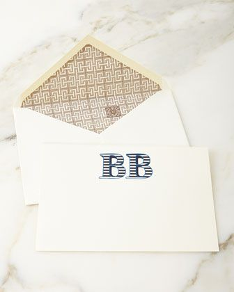 Sailor Stripe Personalized Notecards by Parker Thatch at Horchow.
