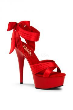 Sandalette DELIGHT-609 rote Lack High Heels von Pleaser USA