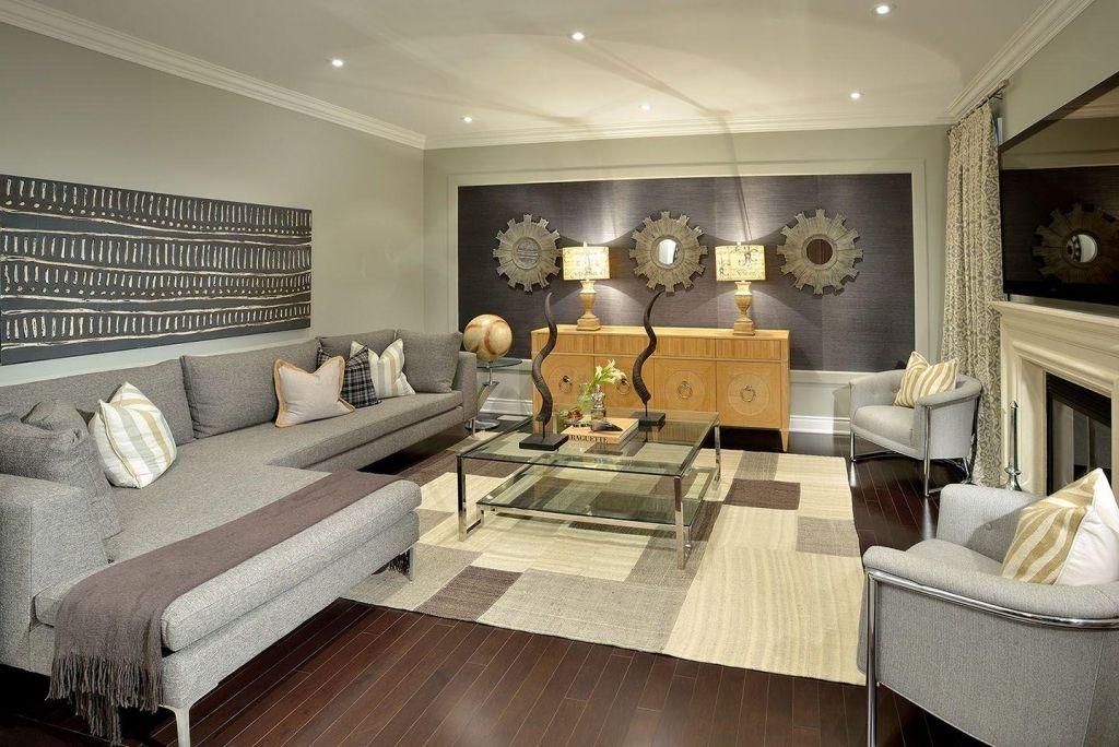 Modern Contemporary Furniture For Elegant Family Room Design Idea In Wall Decor