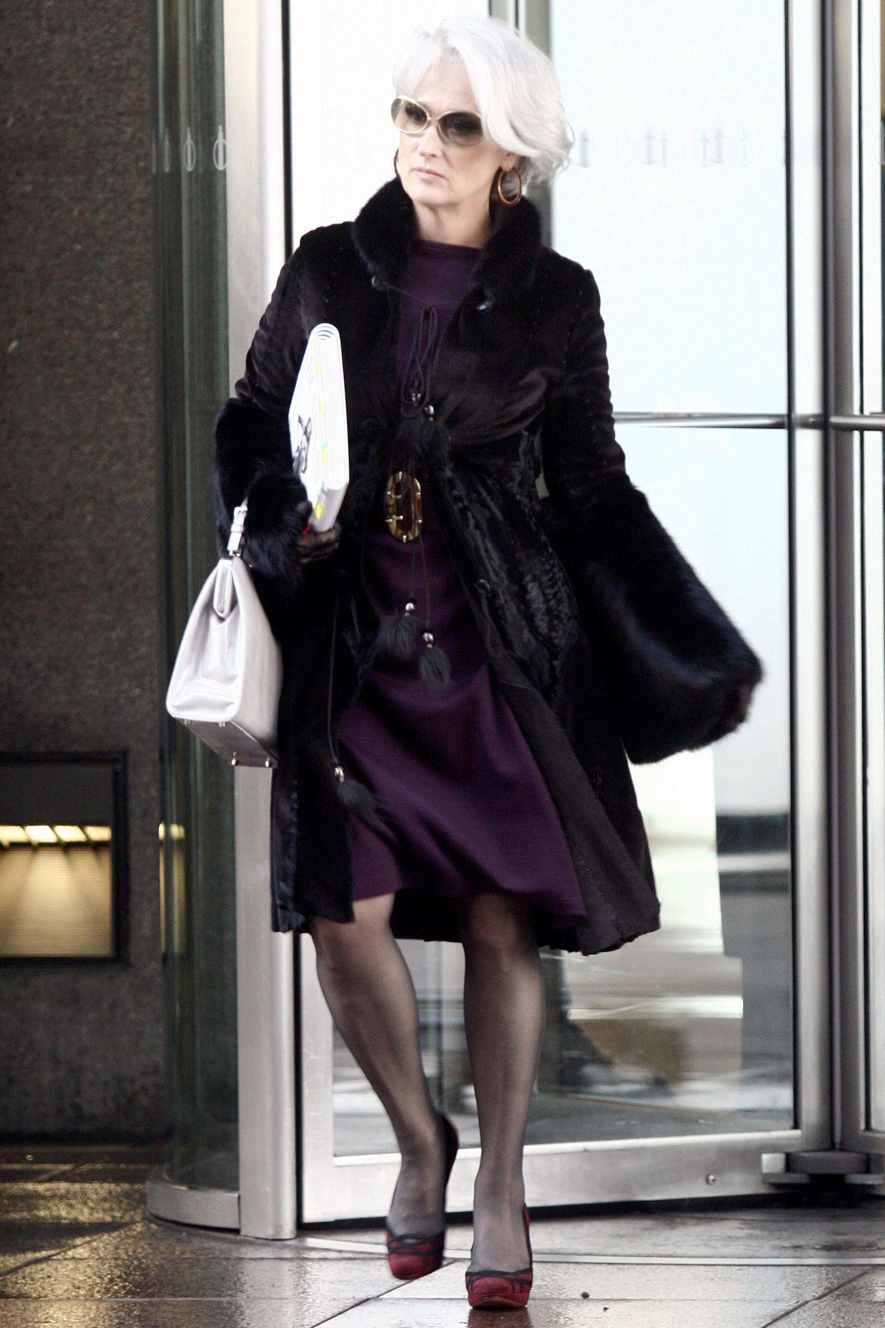 Miranda Priestly, The Devil Wears Prada. Wearing Fur And