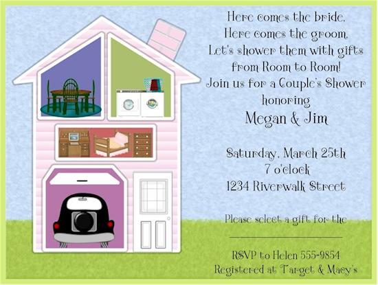 Around The House Bridal Shower Invitations