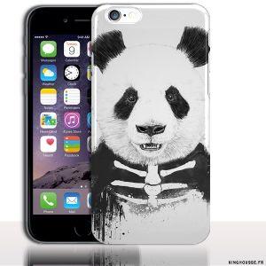 Housse Silicone iPhone 6s Panda Skull - Protection Souple design Customisé. #iPhone6s #Halloween