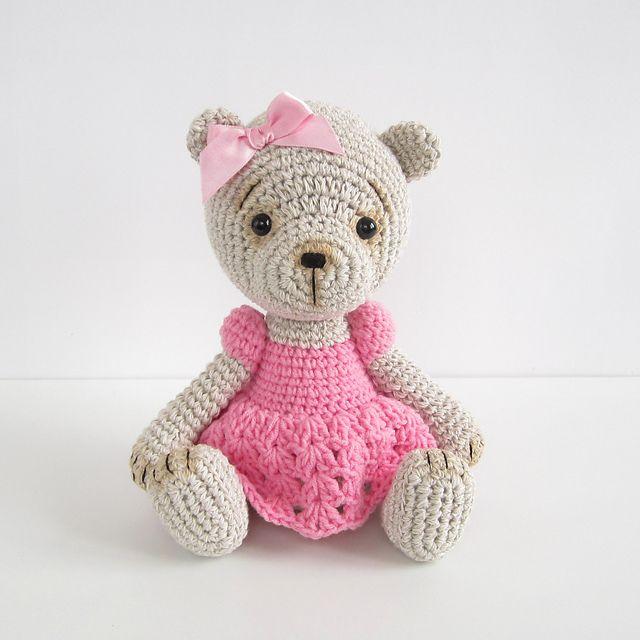 Teddy Girl in a Crocheted Lace Dress pattern by Kristi Tullus ...