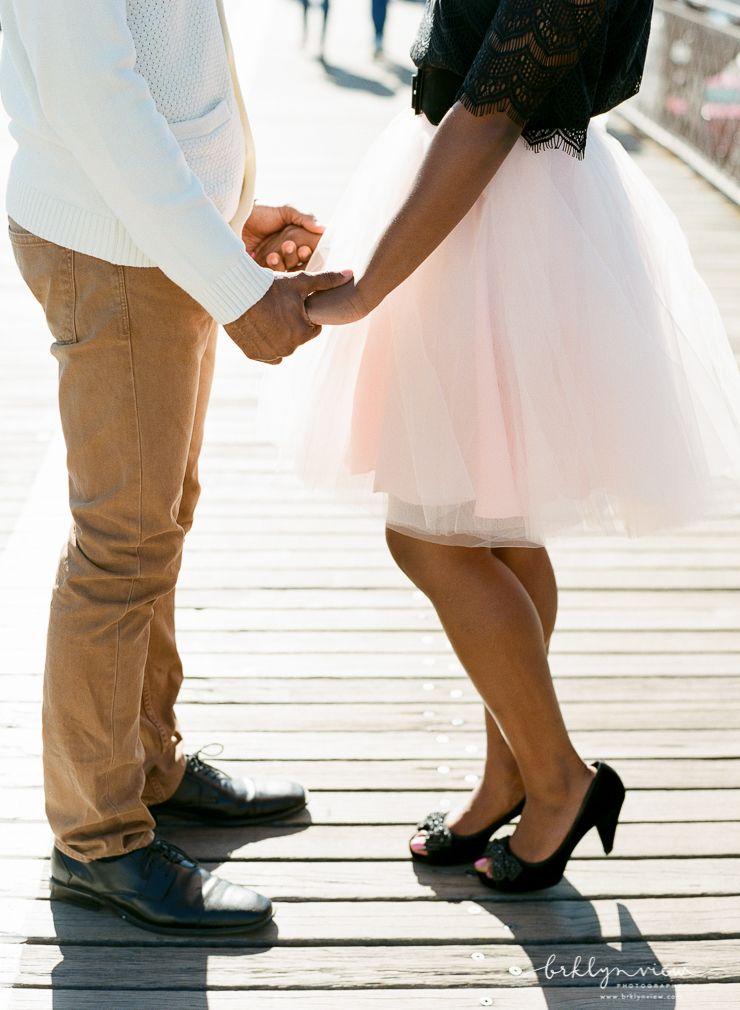 Blush Tutu Skirt for your engagement session photos