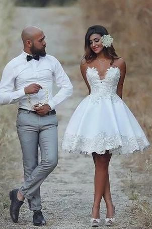 Wedding Dresses Lace Wedding Gowns Bridal Dress Wedding Dress Brides Dress Vintage Wedding Gowns Wedding Gown Bride Reception Dresses Short Wedding Dress Knee Length Wedding Dress