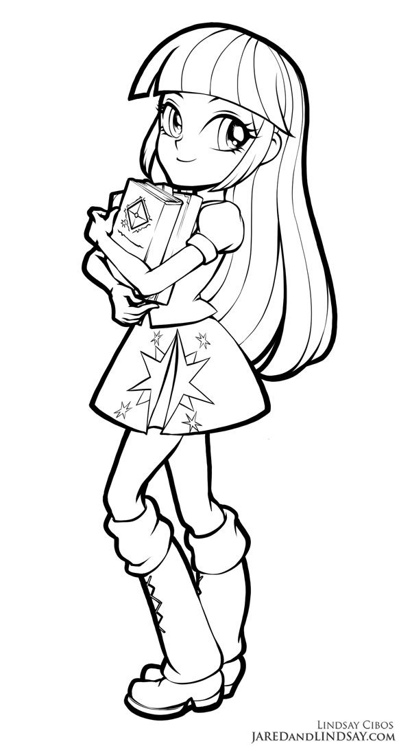 Equestria girls twilight sparkle coloring pages ~ Twilight Sparkle - Equestria Girls by LCibos