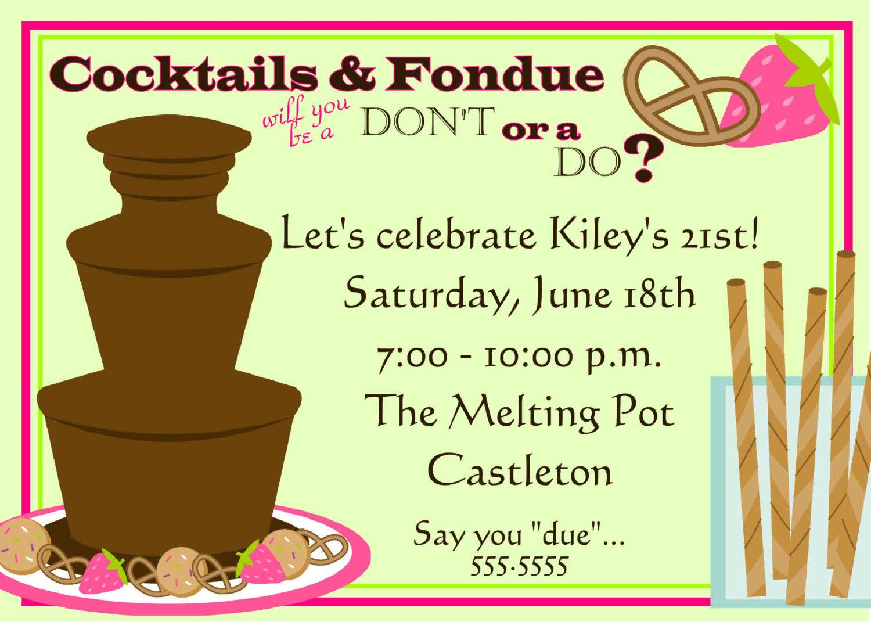 Digital Fondue 1 Bachelorette Wedding Shower Birthday Party ...