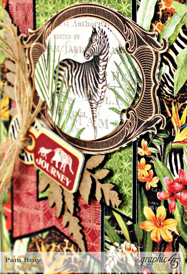 Journey Card, Safari Adventure Collection by Pam Bray, Product by Graphic 45, Photo 4_9925