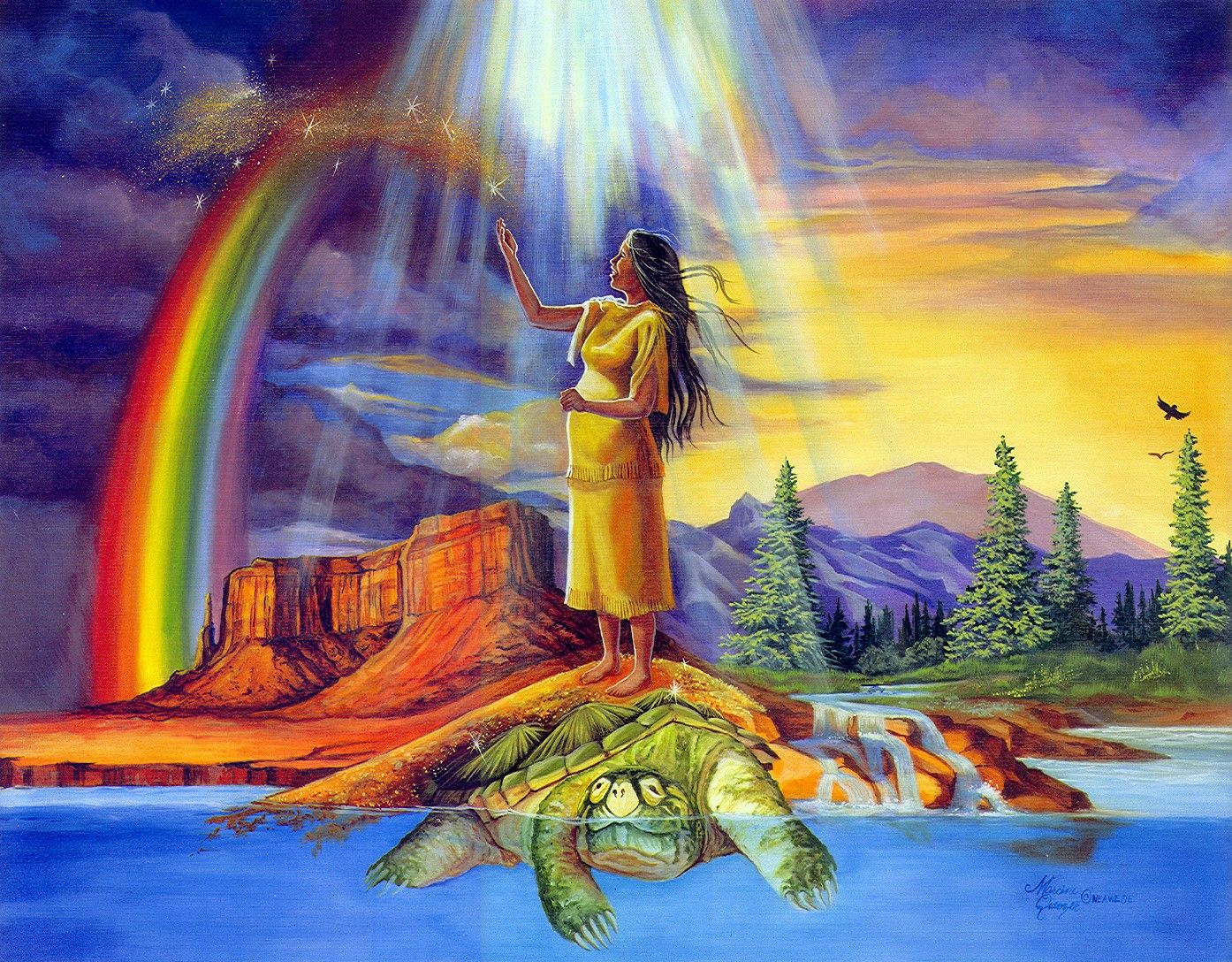 Airoquios creation native american art creation story