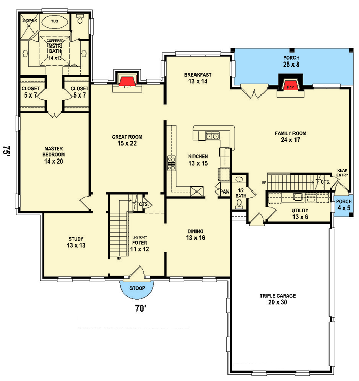 Plan 58591sv Grand Colonial House Plan Colonial House Plans House Plans Colonial House