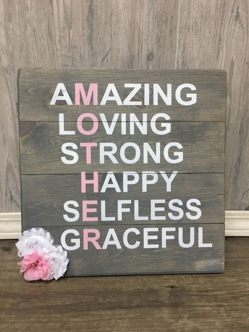 Photo of Mothers Day Gift – Rustic – Mom Gift – Wood Sign