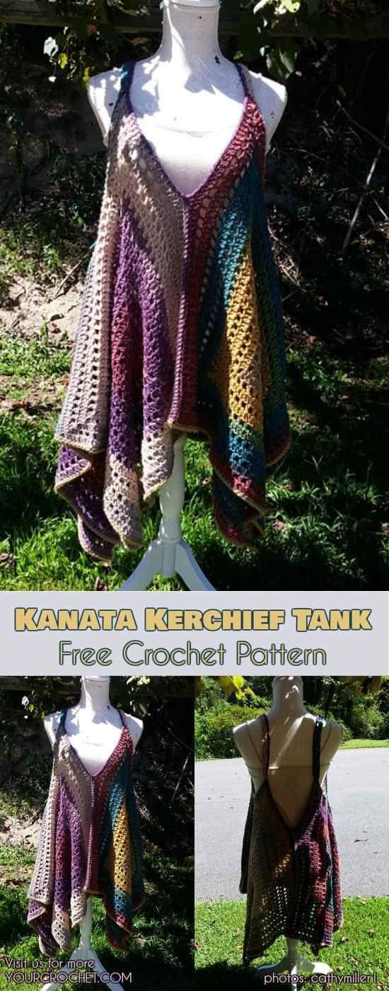 Easy] Kanata Sleeveless Top – Free Crochet Pattern | Pinterest ...