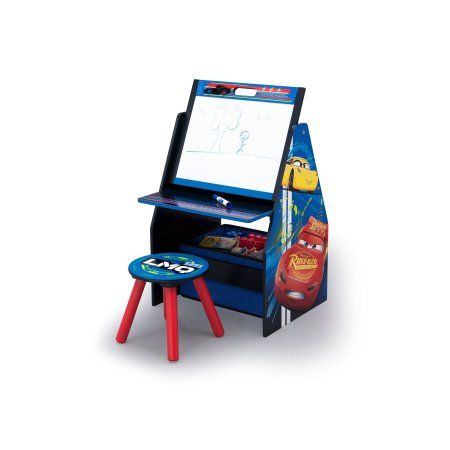 Astonishing Disney Pixar Cars Activity Center Easel Desk With Stool Pdpeps Interior Chair Design Pdpepsorg