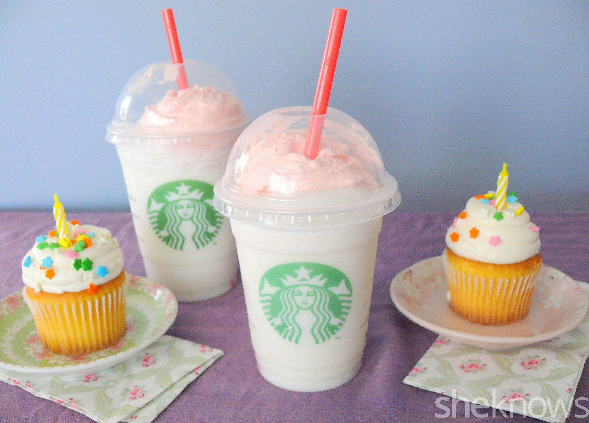 Cake Birthday Ingredients Frappuccino