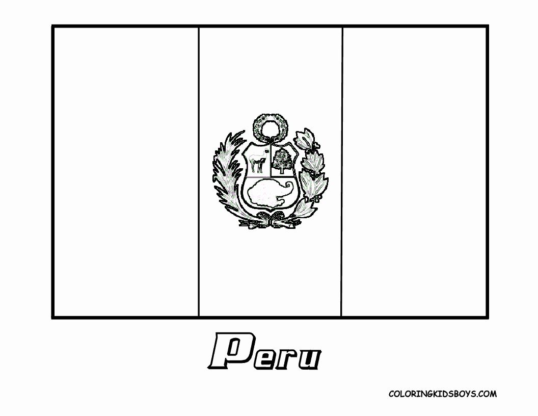 Delaware Flag Coloring Page