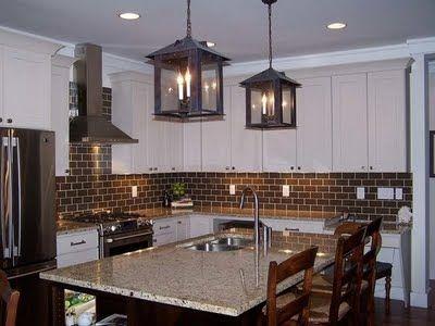 Brown Tile With White Cabinets Brown Subway Tile Backsplash Brown Tile Backsplash Modern Kitchen Backsplash