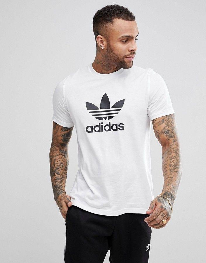 cca1ce3841 adidas Originals adicolor t-shirt with trefoil logo in white cw0710 ...