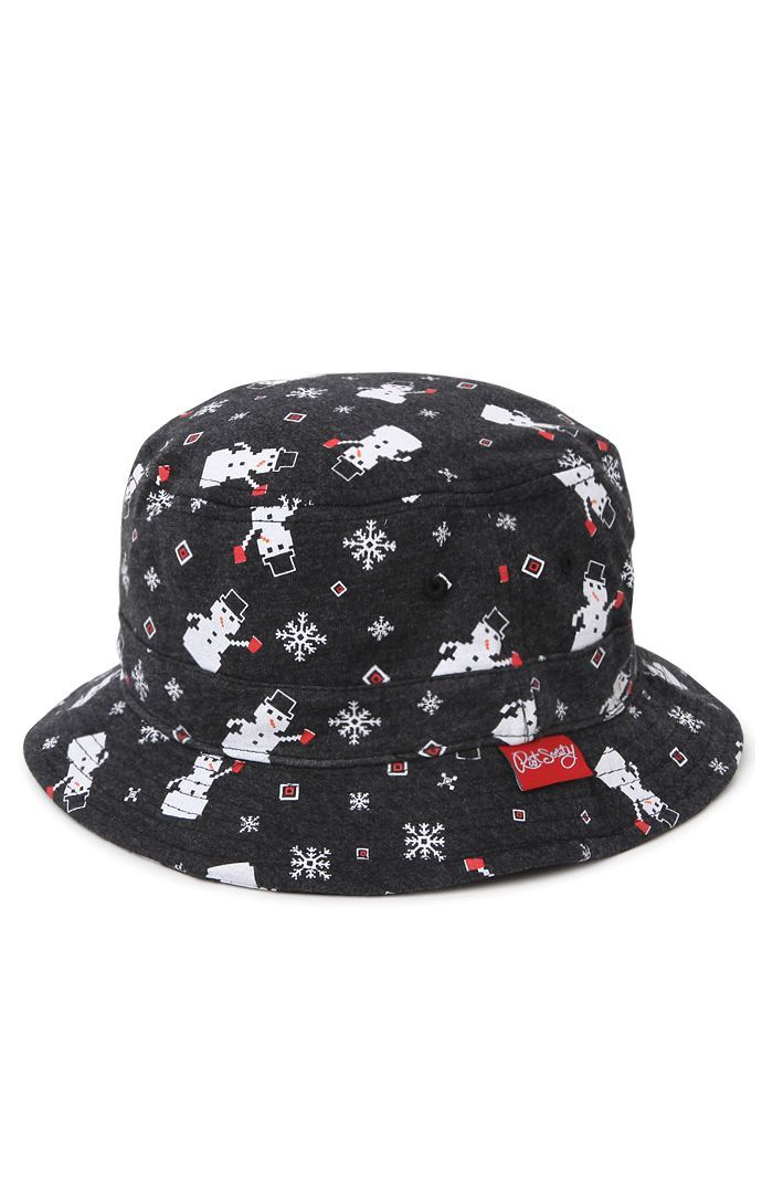 PacSun presents the Riot Society Snowman Party Bucket Hat for men. This  frigid men s bucket 04d731bd97af
