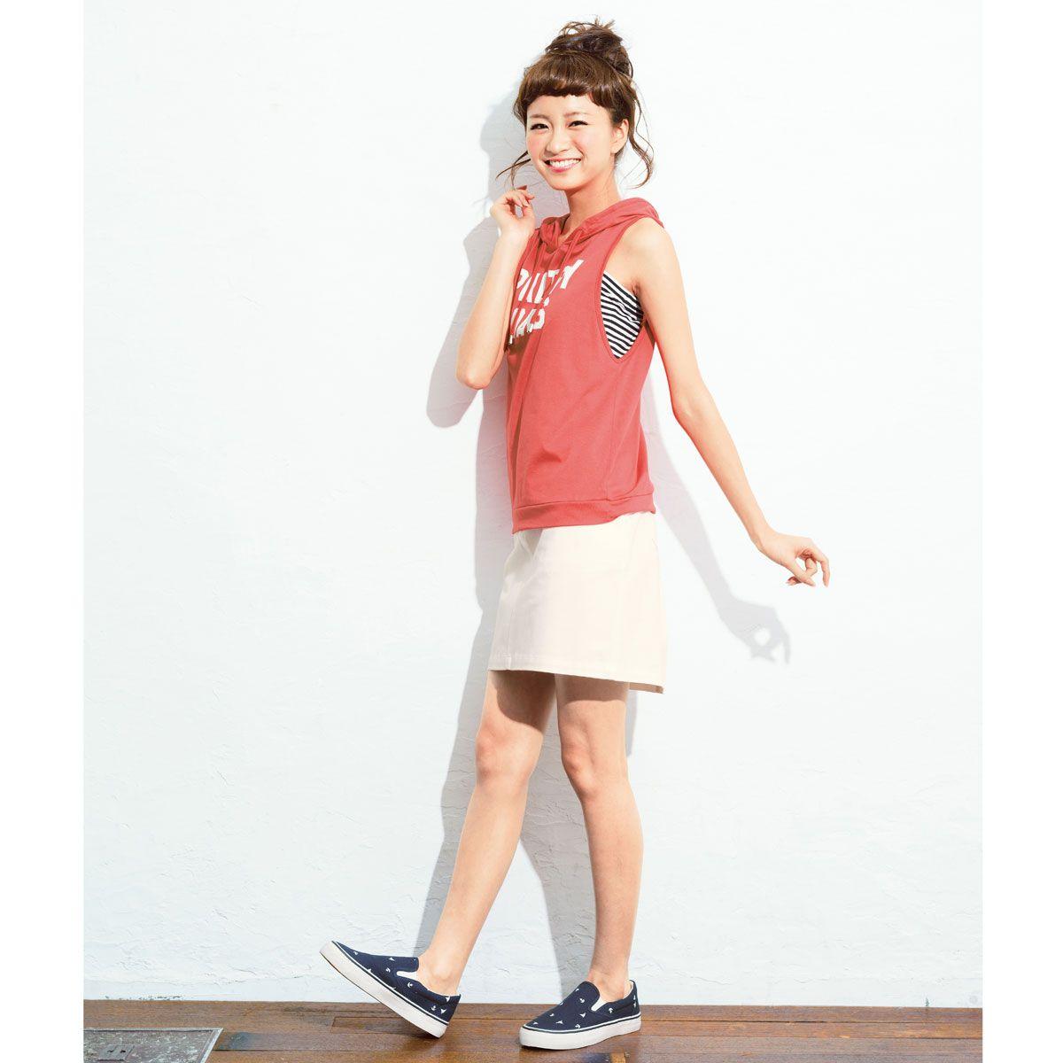 パーカ2点セット(パーカ+チューブトップ) 通販 【ニッセン】 ティーンズ トップス Tシャツ・カットソー