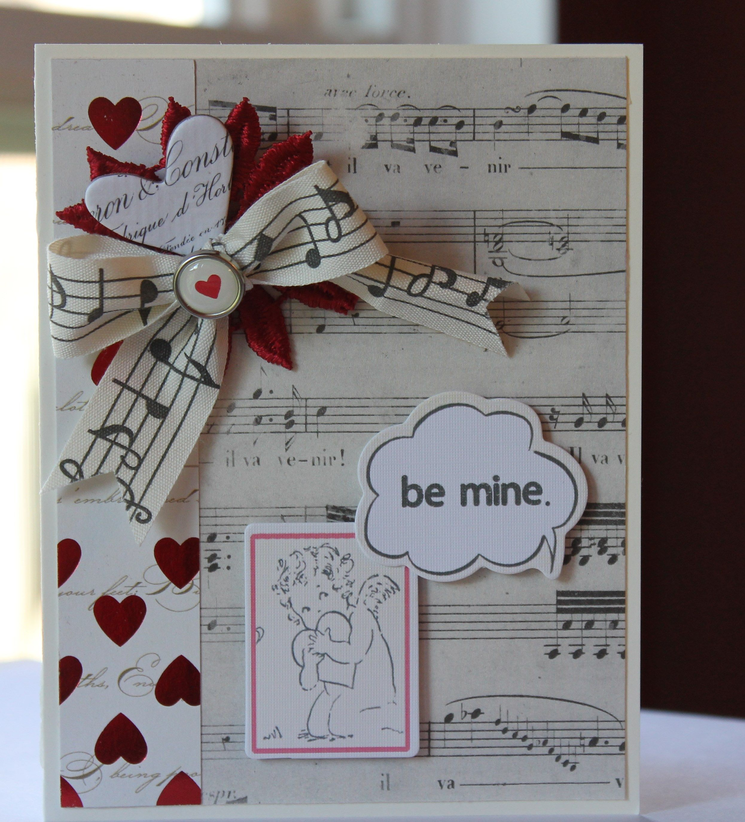 Valentineus card betsy veldman design tags hearts music music