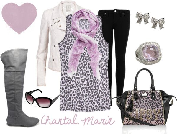 """purple and grey leopard print"" by cmarie2683 on Polyvore"