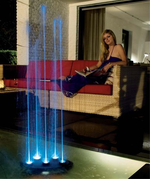 Small Exhibition Stand Alone : Water quintet jet dancing display jewelry